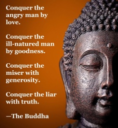 Buddha quote anger, goodness truth generosity