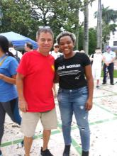 Flose Boursiquot and Chip at Rally June 30th 2018