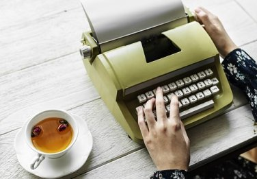 tea and typewriter